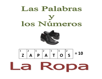 Spanish  Writing and Spelling Activity with Clothing
