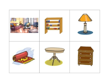 Spanish  Writing and Spelling Activity with House, Rooms, Furniture