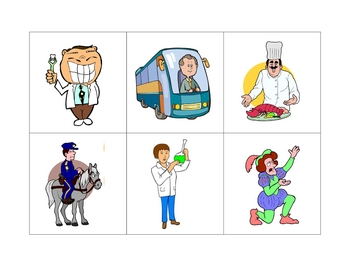 Spanish Writing and Spelling Activity with Jobs and Professions