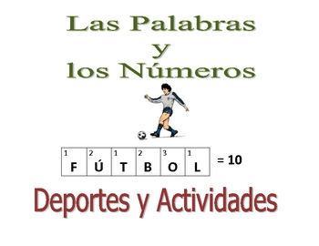 Spanish Writing and Spelling Activity with Sports and Activities