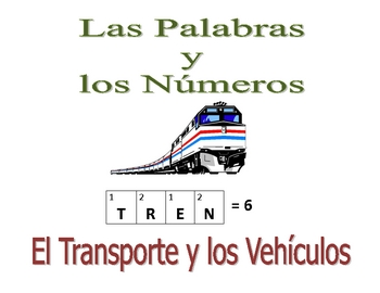 Spanish Writing and Spelling Activity with Transportation