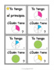Spanish Fractions: Yo Tengo... ¿Quién Tiene?... Fracciones de Principio