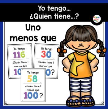 Spanish: Yo tengo... ¿Quién tiene...? 1 menos (A Place Value Game)