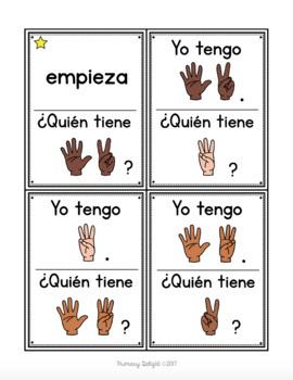 Spanish: Yo tengo... ¿Quién tiene...? Finger Patterns to 10