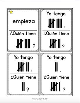 Spanish: Yo tengo... ¿Quién tiene...? Tally Marks to 10