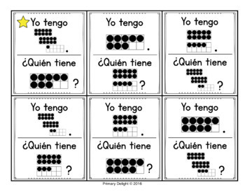 Spanish: Yo tengo.... ¿Quién tiene...? Subitizing Bundle to 30