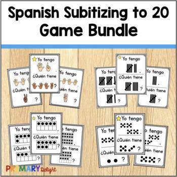Spanish: Yo tengo... ¿Quién tiene...? Subitizing to 20 Bundle
