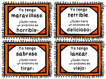 Spanish Zip Around {Sinonimos y Antonimos}