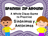Spanish Zip Around {Sinonimos y Antonimos}