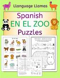 Spanish Zoo Animals - En El Zoo - Puzzles Pack - los animales