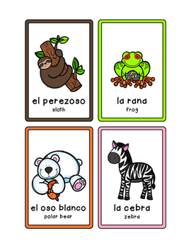 Spanish Zoo Animals Set 2