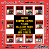 Spanish Zoom™ + Google Meet™ Musical Transition Videos Sta