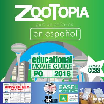 Zootopia Guía de película en Español / Zootopia Movie Viewing Guide in Spanish