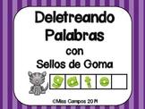Spanish (abc stamping) - Sellos de Goma - Deletreando Palabras Simples
