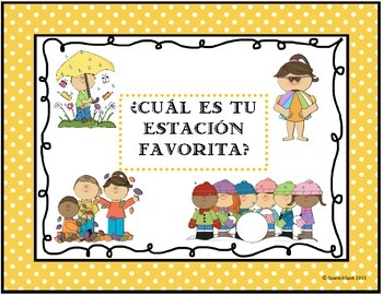 Spanish activity: Favorite season- Tally chart and graph