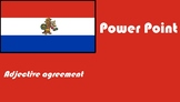 Spanish adjective agreement Power Point distance learning