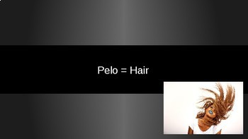 Spanish adjectives for hair