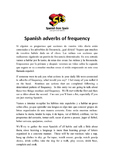 Spanish adverbs of frequency