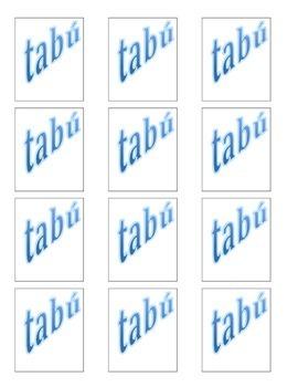 Spanish airplane / airport vocabulary taboo game
