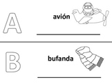 Spanish alphabet book pages letters a and b, Spanish alfabeto