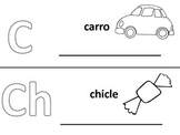 Spanish alphabet book pages letters c and ch, Spanish alfabeto