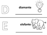 Spanish alphabet book pages letters d and e, Spanish alfabeto