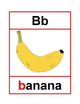 Spanish alphabet cards. Tarjetas del alfabeto en español.