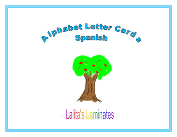 Spanish alphabet circle time cards