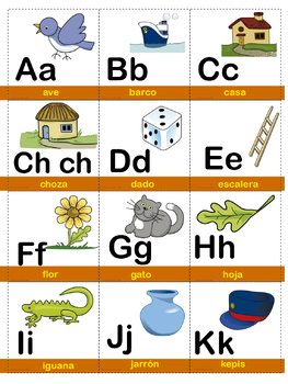 Spanish alphabet memory game