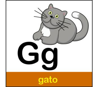 Spanish alphabet memory game