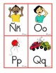 Spanish and English ABC Sound Clues Word Wall Smaller Sized Cards