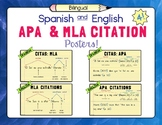 Spanish and English APA and MLA Citation Posters – Set of 4!