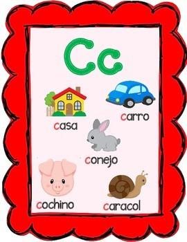 DUAL LANGUAGE:  Spanish and English Alphabet Posters COMBO