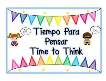 Spanish and English Behavior Chart