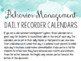 Spanish and English Behavior Management Daily Recorder