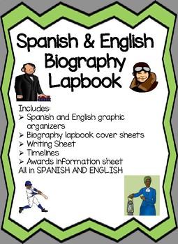 Spanish and English Biography lapbooks Biografias