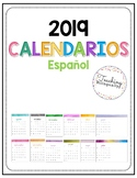 Spanish and English Calendars for 2019