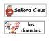 Spanish and English Christmas Words for the Word Wall