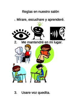 Spanish and English Class Rules
