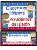 Classroom Jobs: Spanish & English with Editable template