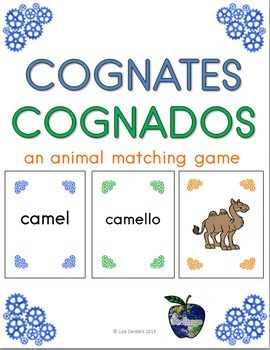 Spanish and English Cognates - An animal matching game