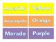 Spanish and English Color Names