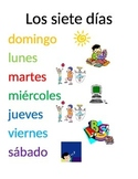 Spanish and English Days and Seasons handouts/posters