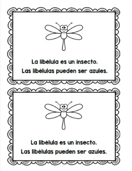 Spanish and English Insect Emergent Readers/ Libros de los insectos