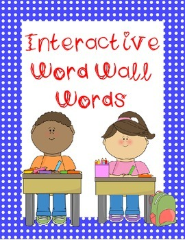 Spanish and English Interactive Word Wall for Writing and
