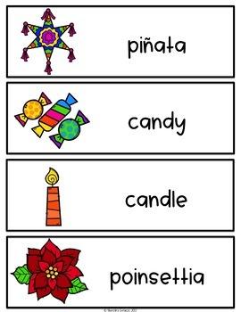 Spanish and English Las Posadas Vocabulary
