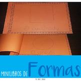 Spanish and English Mini libros de las formas Shapes Minibooks - Trace and write