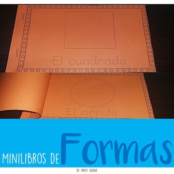 Spanish and English Mini libros de las formas Shapes Minibooks - Trace and write