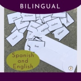 Spanish and English Numbers Puzzles (Words) - Perfect for
