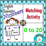 Spanish and English Numbers from 0-20. Bilingual Matching Activity